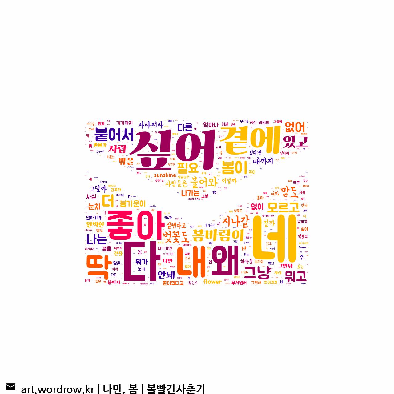 워드 아트: 나만, 봄 [볼빨간사춘기]-77